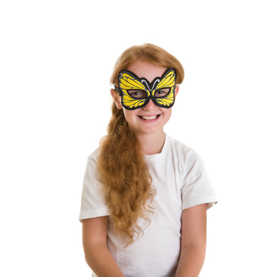 Masque papillon jaune - Dreamy Dress-Ups