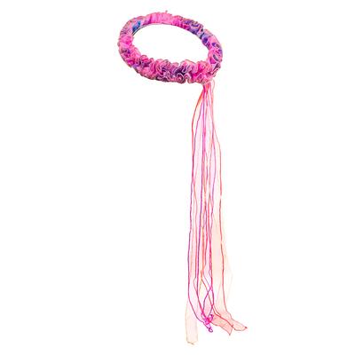 Bandeau élastique de tête Fée rose arc-en-ciel Dreamy Dress-Ups