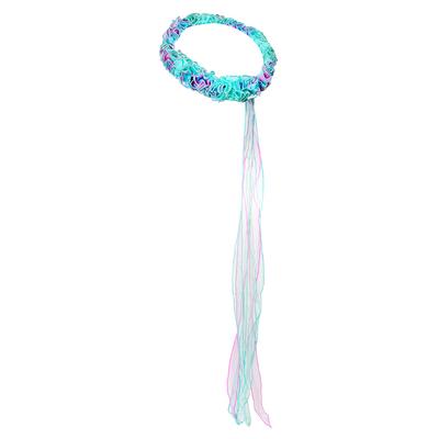 Bandeau élastique de tête Fée verte arc-en-ciel Dreamy Dress-Ups