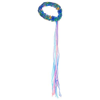 Bandeau élastique de tête couleur Paon Dreamy Dress-Ups
