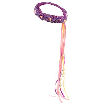 Bandeau élastique de tête violet et fleurs Dreamy Dress-Ups