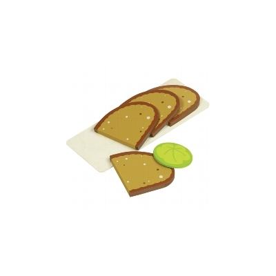 4 tranches de pain et une feuille de salade - jouet en bois GOKI