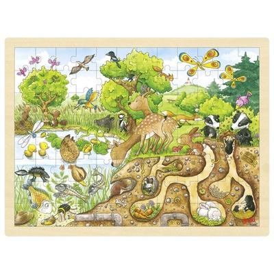 Puzzle bois découverte de la nature 96 pièces GOKI