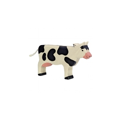 Vache noire debout HOLZTIGER