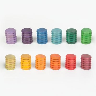 72 Pièces colorées en bois Grapat
