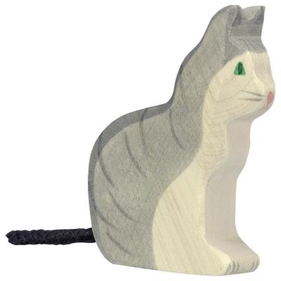 Chat assis Holztiger