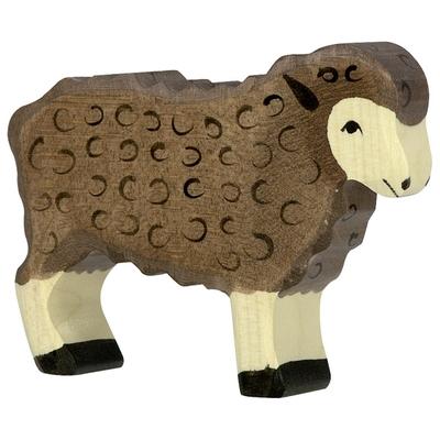 Mouton noir debout Holztiger