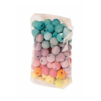 120 perles en bois 12mm Pastel GRIMM's