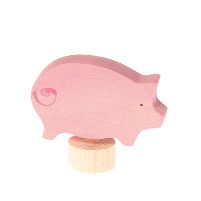 Figurine en bois Cochon Grimm's