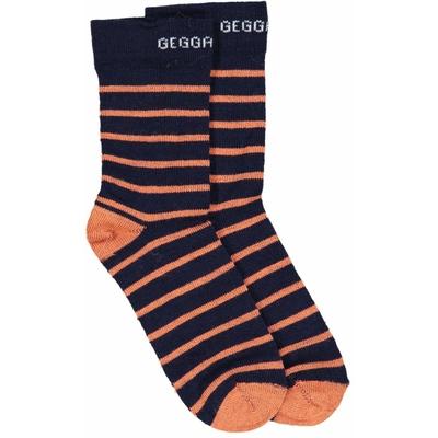 Chaussettes en laine Orange rayé Geggamoja