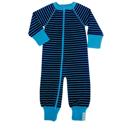 Combinaison en laine Marine/Turquoise Geggamoja