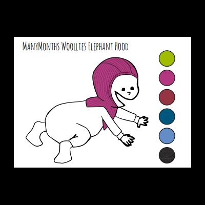 ManyMonths Elephant Hood Sweet Apple