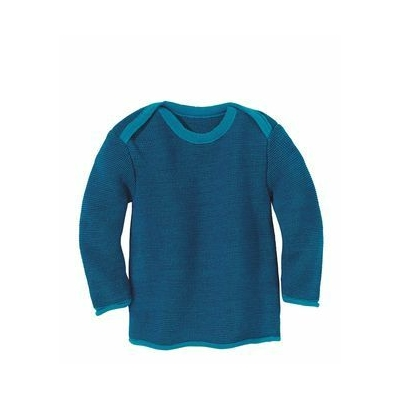 Pullover en laine tricotée Bleu/Marine Disana