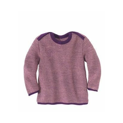 Pullover en laine tricotée Prune/Rose Disana