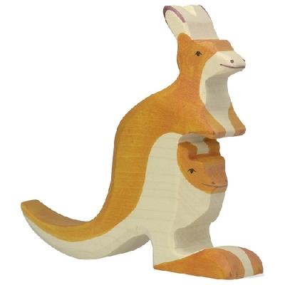 Kangourou avec petit Holztiger