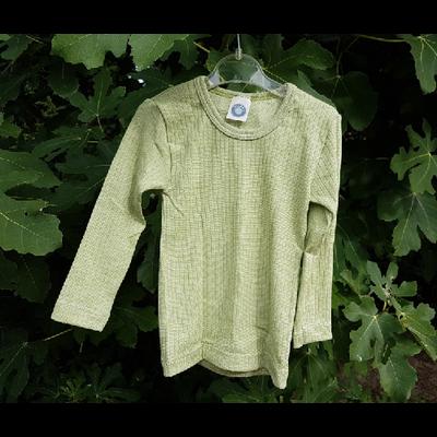 Cosilana T-shirt manches longues Enfant Vert clair - Laine/soie/coton bio