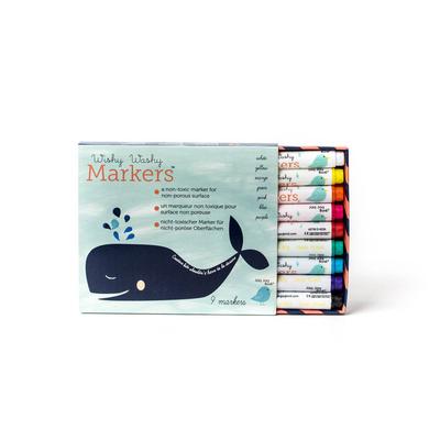 Wishy Washy Marqueurs effacables à l'eau - 9 couleurs Jaq Jaq Bird