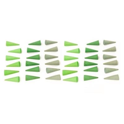 Mandala Mini cônes en bois - Lot de 36 Grapat