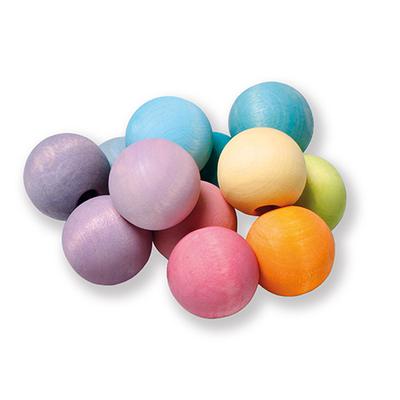 Hochet boules en bois Pastel Grimm's