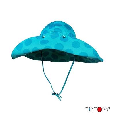 Chapeau d'été à bord large ManyMonths Big Dots Turquoise