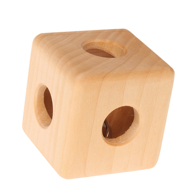 Hochet en bois cube GRIMM's