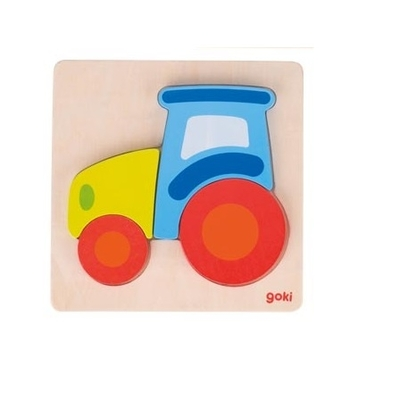 Puzzle en bois Tracteur GOKI