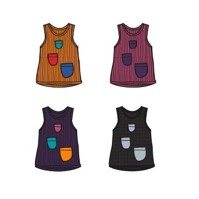 ManyMonths Débardeur avec poches en laine -divers coloris