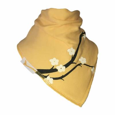 Bavoir Bandana Funky Giraffe: Cerisier en jaune