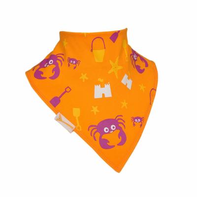 Bavoir Bandana Funky Giraffe: Crabou en orange