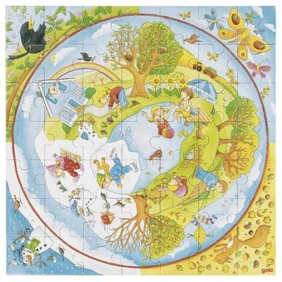 Puzzle XXL Les saisons GOKI