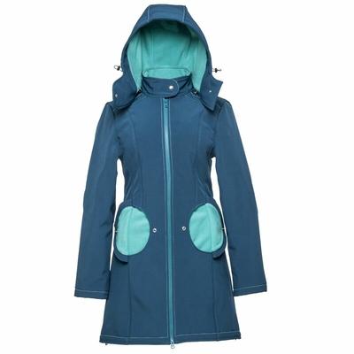 Liliputi Mamacoat manteau de portage et grossesse 4en1 Azur-Turquoise