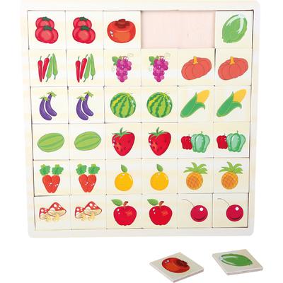 """Puzzle Mémo """"Jardin en couleurs"""" Small Foot"""