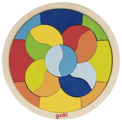 Puzzle Mandala en bois Goki