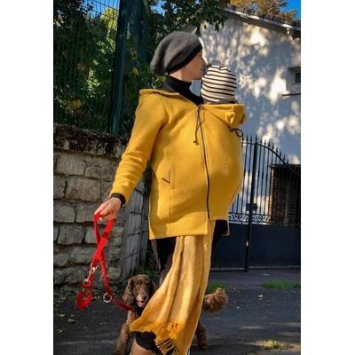 Manteau de portage en laine Wear Me Jaune Moutarde