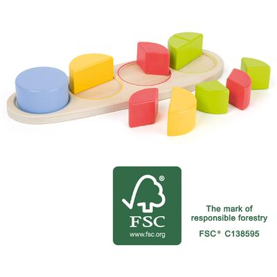 Puzzle Educatif en bois Fractions Small Foot