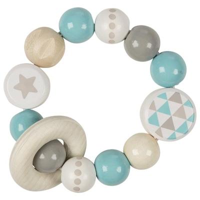Hochet élastique avec étoile, Turquoise Heimess