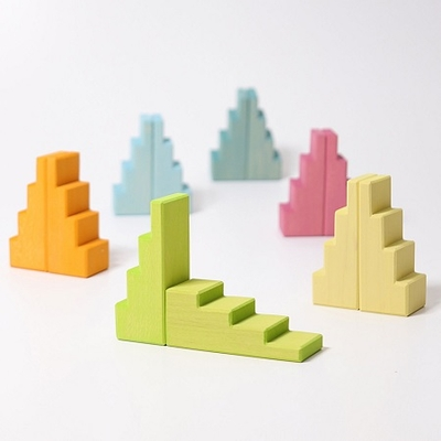 Blocs de construction en escalier Pastel Grimm's