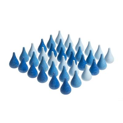 Mandala Gouttes d'eau bleues - Lot de 36 Grapat