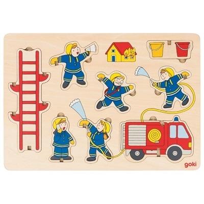 Puzzle à empiler pompiers Goki