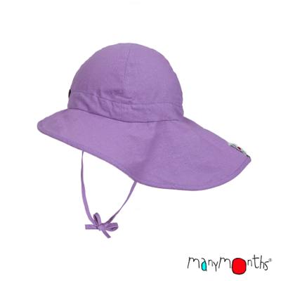 ManyMonths Chapeau d'été léger Chanvre Sheer Violet