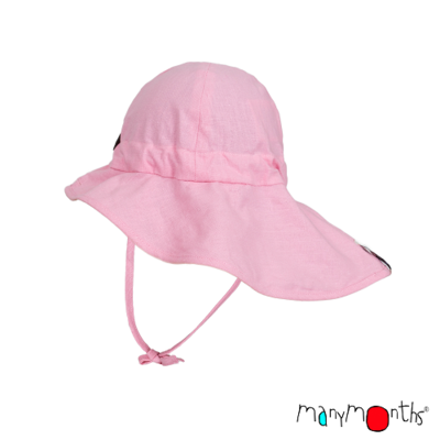 ManyMonths Chapeau d'été léger Chanvre Strawberry Milk