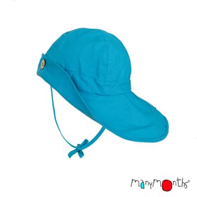 ManyMonths Chapeau d'été léger Chanvre Aquarius Turquoise