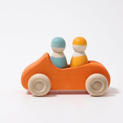 Grande voiture cabriolet orange double place Grimm's
