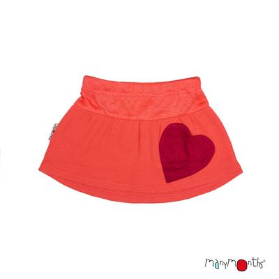 ManyMonths Jupe poches coeur en laine -différents coloris