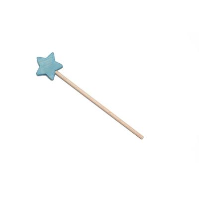 Baguette magique en bois Bleu Ocamora