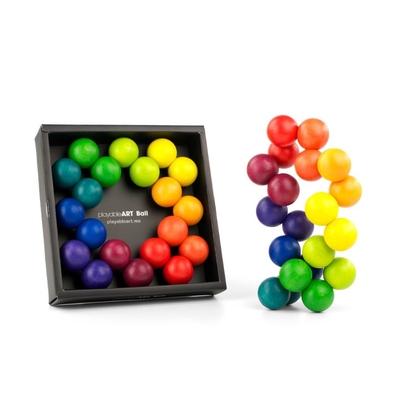 Art Ball Playable Art - Puzzle Artistique en bois 20 boules arc-en-ciel
