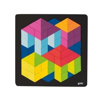 Puzzle 3D en bois GOKI - 72 pièces