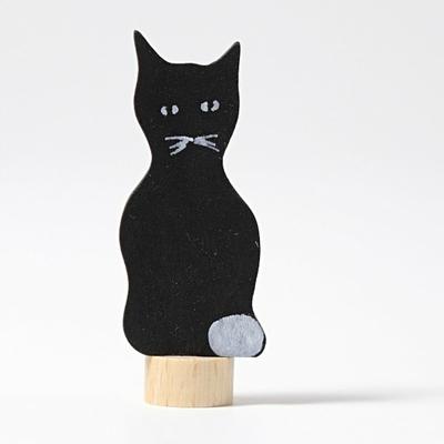 Figurine en bois Chat noir Grimm's