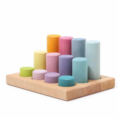 Tableau de tri et cylindres de construction Pastel Grimm's