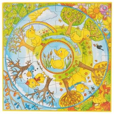 Puzzle XL une année avec le petit canard GOKI